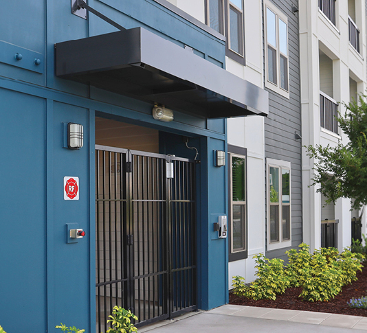 apartment building access security gate