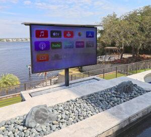 luxury outdoor popup tv